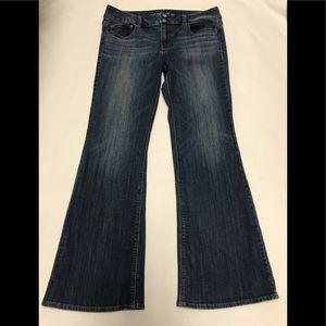 American eagle artist flare jeans size 12